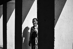 Black, white and smoke~ Myanmar (~mimo~) Tags: people portrait temple shadow cigar smoke woman asia burma mimokhairphotography myanmar photography travel