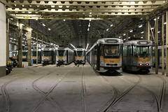 2017-11-05, Bruxelles, Dépôt de l'Avenue du Roi (Fototak) Tags: tram strassenbahn pcc t7900 t7700 bruxelles stib mivb belgium 7914 7918 7949 7952 7909 7912 7736 7916