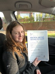 Congratulations Maisie Robbins passing her practical test with an excellent performance.  www.leosdrivingschool.com