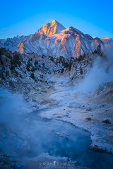 Frosty Sunrise (ihikesandiego) Tags: hot creek gorge mammoth mountain sunrise eastern sierras winter morning geothermal springs