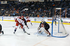 "Kansas City Mavericks vs. Allen Americans, February 23, 2018, Silverstein Eye Centers Arena, Independence, Missouri.  Photo: © John Howe / Howe Creative Photography, all rights reserved 2018 • <a style=""font-size:0.8em;"" href=""http://www.flickr.com/photos/134016632@N02/38690086910/"" target=""_blank"">View on Flickr</a>"