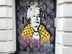 Lizzy Vuitton (Matt From London) Tags: endless streetart soho london queen elizabeth louisvuitton