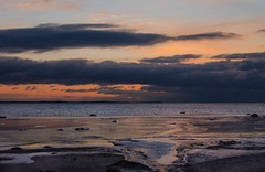 Dark skies over Denmark (frankmh) Tags: landscape seascape cloud sunset viken skåne sweden öresund denmark outdoor