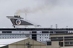 Ready for departure (Mona_Oslo) Tags: ferrytokiel harbour transport ship boat marine oslo oslofjorden monajohansson smoke buildings houses windows