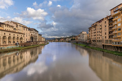 Arno River (aliffc3) Tags: arnoriver florence firenze nikond750 nikon20f18g reflections travel tourism europe italy tuscany longexposure