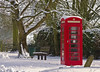 Red Old Phone Box (Wildlife & Nature Photography) Tags: redphone england cold winter ice tree landscape