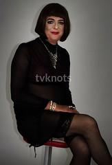 Thank you Paul (rosy.flower57) Tags: crossdress stockings tgirl tv cd transgender bra sheer