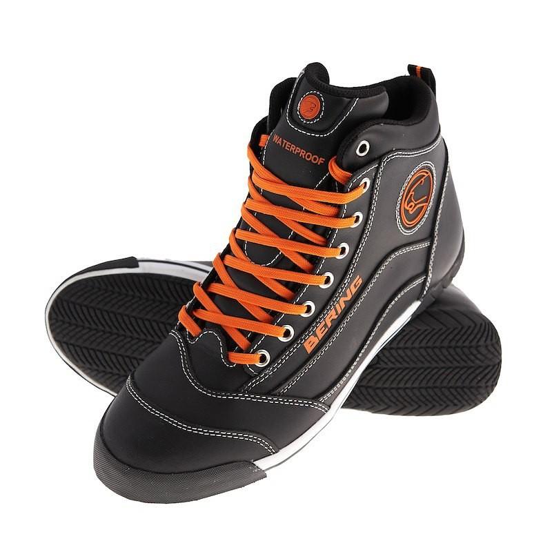 Falco trek Moto Bottes Moto Chaussures Basses Marron//Cuir