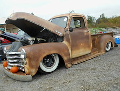 1949 Chevy 3100 (splattergraphics) Tags: 1949 chevy 3100 pickup truck custom rust patina slammed ratrod carshow rustynutz jalopyrama carrollcountyagriculturalcenter westminstermd