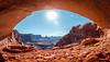 False Kiva (V.Duplain) Tags: canyon canyonland utah desert red rocks orange blue sky sun sunny candle stick monolith canon 6d 2470mm f28 kiva false cave framing landscape hike hiking
