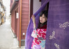 Beautiful woman in kimono going out from shop (Apricot Cafe) Tags: img26356 asia asianandindianethnicities ishikawaprefecture japan japaneseethnicity japaneseculture kanazawa kimono sigma35mmf14dghsmart artscultureandentertainment buildingexterior charming cheerful citylife cultures curtain day enjoyment entrance exit fashion freedom freshness hairaccessory happiness humanhand lifestyles longhair noren oldfashioned oneperson onlywomen outdoors photography relaxation smiling springtime straighthair street tourism tradition traditionalclothing tranquility travel traveldestinations waistup walking weekendactivities women youngadult