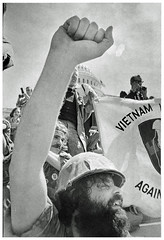 A powerful veterans demonstration: 1971 (washington_area_spark) Tags: vietnam veterans against war vvaw protest demonstration rally march anti indochina encampment national mall washington dc 1971 medals ribbons military ex servicemen civil disobedience us capitol