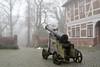 Old cannon in Winsen Castle (mechanicalArts) Tags: winsen luhe schloss castle kanone cannon nebel mist fog germany innenhof