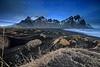 The Beach Walker (Stu Patterson) Tags: stuart patterson iceland vestrahorn mountains dunes