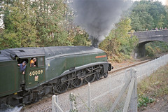 A4 60009 : Official Opening of Chandlers Ford Stn., 19 Oct 2003 (Ian D Nolan) Tags: station chandlersfordstation 35mm epsonperfectionv750scanner lner 60009 unionofsouthafrica
