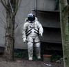 verlaufen ... (cmdpirx) Tags: hamburg altona germany astronaut kosmonaut hinterhof backyard figur nasa spacesuit