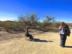 Saguaro Artist Sketching -5 (Chic Bee) Tags: trail saguaro sketch artist saraiyakanning nedharris sabinocanyon sabinocanyonvolunteernaturalists guides naturewalk 20180131 tucson arizona southwesternusa americansouthwest america nature walking