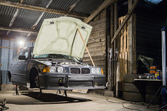 Track day car - BMW E36 320i swap 325i (Freddy Pacques) Tags: garage life bmw e36 serie 3 320i swap 325i stock engine condor speed shop bushing brake line kn air filter fibergrass parts coilovers d2 racing circuit track driftshop canon 5d ef 2470mm f28 l usm cyl6