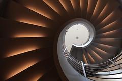 Brown sugar (Elbmaedchen) Tags: staircase stairwell stairs treppenhaus treppenauge roundandround helix upstairs stufen aufwärts spirale