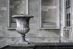 Pots of stone (Boxertrixter) Tags: film 35mm kodakportra160 kodakfilm nikon nikonfe ainikkor50mmf18 beltonhouse nationaltrust primelenses colourfilm stone historicbuilding architecture statelyhome