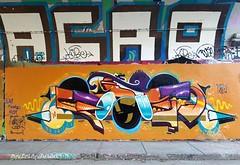 Graffiti Tunnel de Rouen, Montréal (Fred:) Tags: tunnelderouen derouen de rouen legal graffiti piece wall hochelaga montréal hochelagamaisonneuve maisonneuve préfontine legalwall murlégal freestyle mur légal montreal write writers scale painted walls overpass underpass train bridge pont trains viaduc tunnel