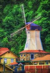 The Heidi Motel Windmill, Helen, Ga (PhotosToArtByMike) Tags: helengeorgia windmill heidimotel helen georgia ga alpinehelen alpinevillage german bavarian alps chattahoocheeriver bavarianvillage mainstreethelen alpinearchitecture shoppingvillage georgiaroute75