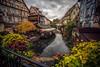 La petite Venise (simonpe86) Tags: streak france gewitter fluss bridge river sonne dusk strahlen wolkig flowers cloudy rain sun colmar