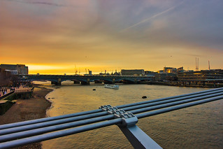 Millenium Bridge sunset