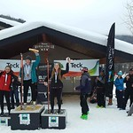 Sun Peaks Teck Open Event, January 4 to 7, 2018 - Ladies' Overall GS Podium
