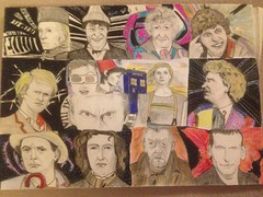 14 Doctors (WiP) Almost done! (Dalekwidow) Tags: williamhartnell patricktroughton jonpertwee tombaker peterdavison colinbaker sylvestermccoy paulmcgann johnhurt christophereccleston davidtennant mattsmith petercapaldi jodiewhittaker tardis timelords drawing copicmultiliner prismacolour pencil