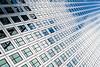 Into The Blue (Sean Batten) Tags: london england unitedkingdom gb canarywharf docklands eastlondon nikon df 58mm city urban onecanadasquare blue sky reflection windows glass steel architecture building