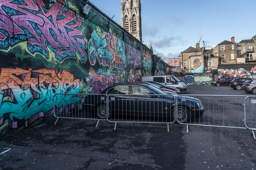 STREET ART AT THE TIVOLI CAR PARK IN DUBLIN [LAST CHANCE BEFORE THE SITE IS REDEVELOPED]-135640