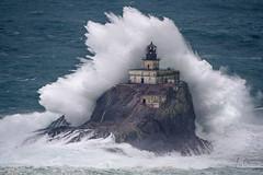 Tillamook Lighthouse (leighchen) Tags: ocean seascape wave swell thunder storm lighthouse crashing rock oregon state park tillamook ecola indian beach seaa bandoned rusted 30 rain