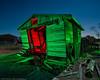 Doubled Over (dejavue.us) Tags: lightpainting longexposure shack nightphotography nikon desert d800 180350mmf3545 garage fullmoon mojavedesert nikkor abandoned california vle