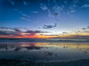 On the beach (Ed Rosack) Tags: usa sunrise nature water hires surf ©edrosack panorama florida beach ocean reflection olympus cloud bird highres sky seascape 35gullsternsandskimmers landscape cocoa centralflorida cloudy dawn shore cocoabeach
