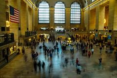 Grand Central Terminal (ceccheriniandrea) Tags: newyork grand central terminal usa america flag longexposure long exposure people lights manhattan midtown 5 avenue sony sigma minolta lens