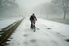Bike ride in the snow - Kensington Gardens - London (Luke Agbaimoni (last rounds)) Tags: london bike bicycle bikes station now snow winter fog