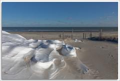 Snow Magic (richpope) Tags: islandbeachstatepark newjersey snow drift wind ocean beach oceancounty path snowdrift