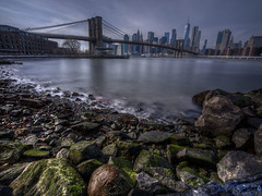 Smooth Day (Brian D' Rozario) Tags: brian19869 briandrozario nikon d750 outdoor brooklynbridgepark manhattan distortion bridge longexposure silkywater riverbank eastriver nyc newyork newyorkcity city urban tranquility tranquil peaceful daytime day motion hdr highdynamicrange