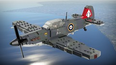 Hooper Sea Hawk Mk.I (Lego Pilot) Tags: lego ldd wwii plane aircraft achtfaden fighter hooper dc seahawk blender