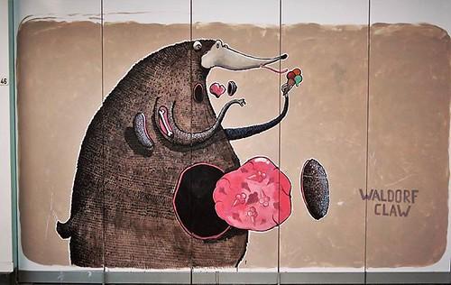 #sundayicecream / #art by #waldorfclaw. . #Leuven #Belgium #streetart #graffiti #urbanart #streetartbelgium #graffitiart #urbanart_daily #graffitiart_daily #streetarteverywhere #streetart_daily #wallart #mural #ilovestreetart #igersstreetart #streetartbel