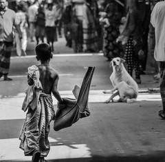 street boy (sufihalua) Tags: street lungi shirtless road joy tensionless kid boy