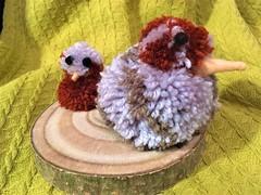A Gift! (springblossom3) Tags: pompom gift chicken handmade bird etsyjtree63