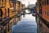 Chioggia (MassimilianoBianchini) Tags: chioggia veneto city cityscape italia italy water acqua nebbia fog winter inverno landscape bridge people persone