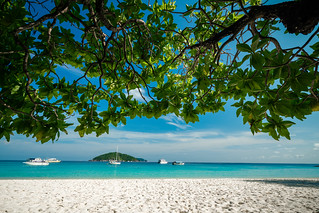 Scenery of beautiful tropical beach on Similan islands in Andaman sea at Phang Nga near Krabi and Phuket southern of Thailand.