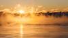 First Light (John Westrock) Tags: sunrise lakemichigan milwaukee wisconsin winter steam clouds fog canoneos5dmarkiii canon135mmf2lusm nature cold