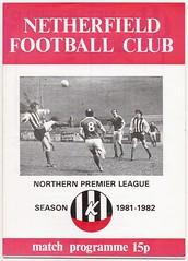 NETHERFIELD v MORECAMBE [1981-82] (bullfield) Tags: netherfield gedling nottinghamshire trent