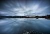 Last Light (Minibert93) Tags: longexposure vartry reflections reservoir water rocks landscape mountains movement canon sky clouds sunset