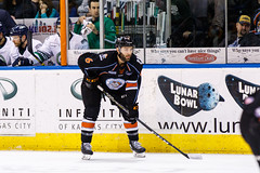 """Kansas City Mavericks vs. Florida Everblades, February 18, 2018, Silverstein Eye Centers Arena, Independence, Missouri.  Photo: © John Howe / Howe Creative Photography, all rights reserved 2018 • <a style=""""font-size:0.8em;"""" href=""""http://www.flickr.com/photos/134016632@N02/40387905011/"""" target=""""_blank"""">View on Flickr</a>"""
