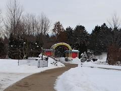 Lisle, IL, Morton Arboretum, Children's Garden Gate (Mary Warren 9.8+ Million Views) Tags: lisleil mortonarboretum winter childrensgarden garden park gate snow
